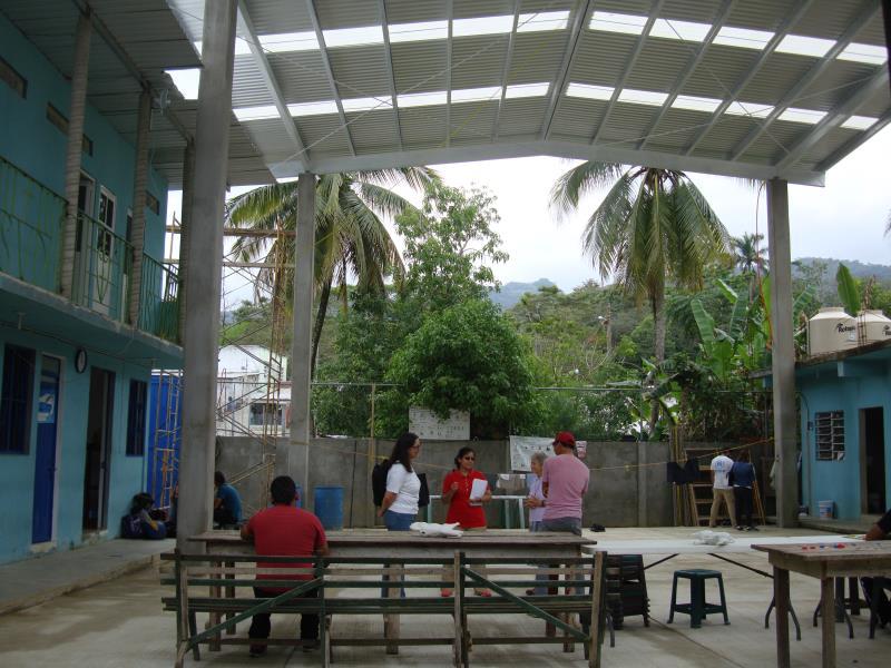 Innenhof des Flüchtlingsheims in Mexiko